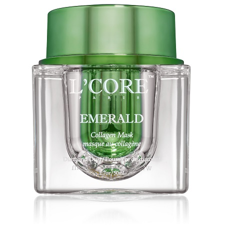 LCore-Paris-Emerald-Collagen-Mask-Skincare-MISBIW-Wichita-Kansas-Medical-Spa-Med-Spa-Aesthetics- Anti aging skincare- best anti aging skincare